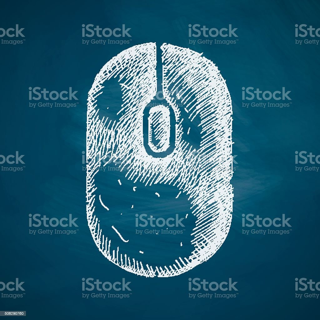 mouse icon vector art illustration