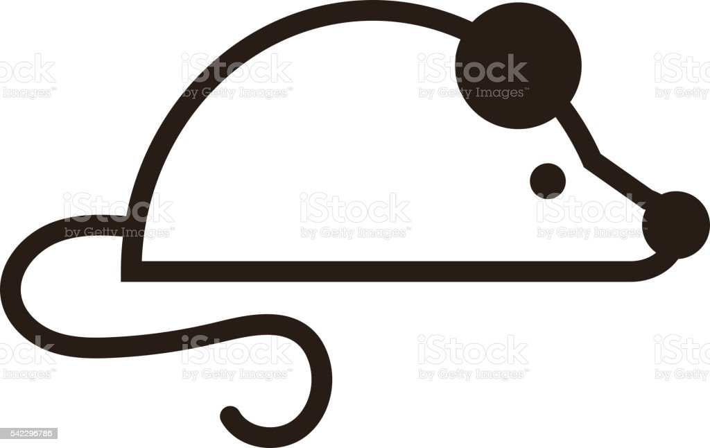Mouse icon vector. vector art illustration