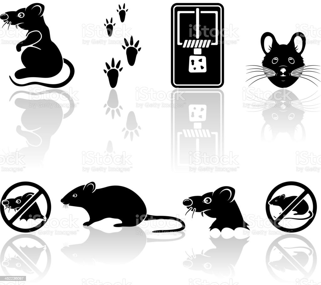 Mouse icons royalty-free stock vector art