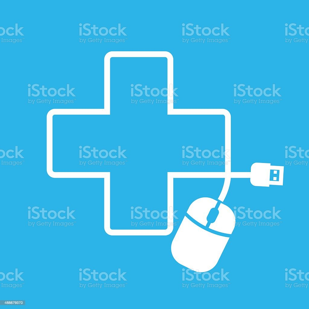 Mouse in hospital shape royalty-free stock vector art