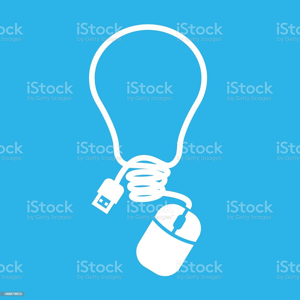 Mouse in light shape royalty-free stock vector art
