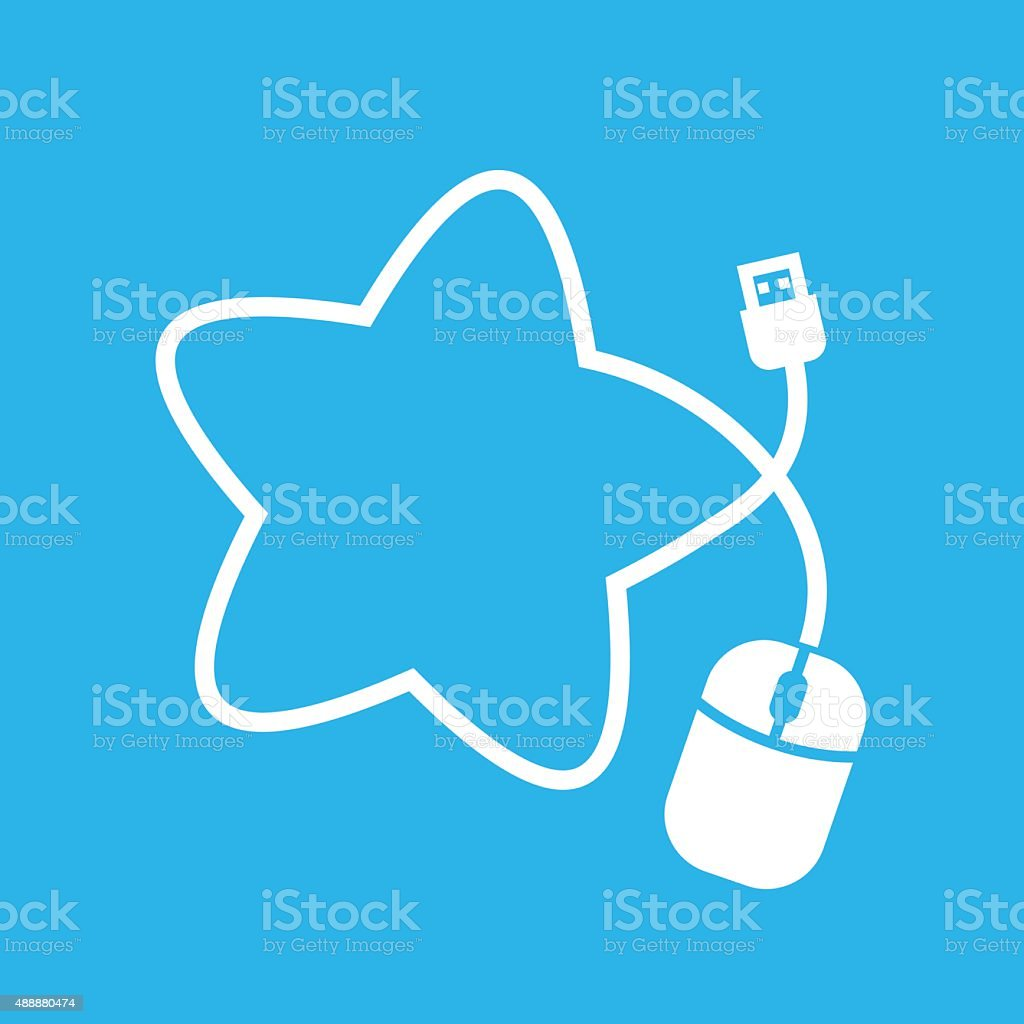 Mouse in star shape royalty-free stock vector art