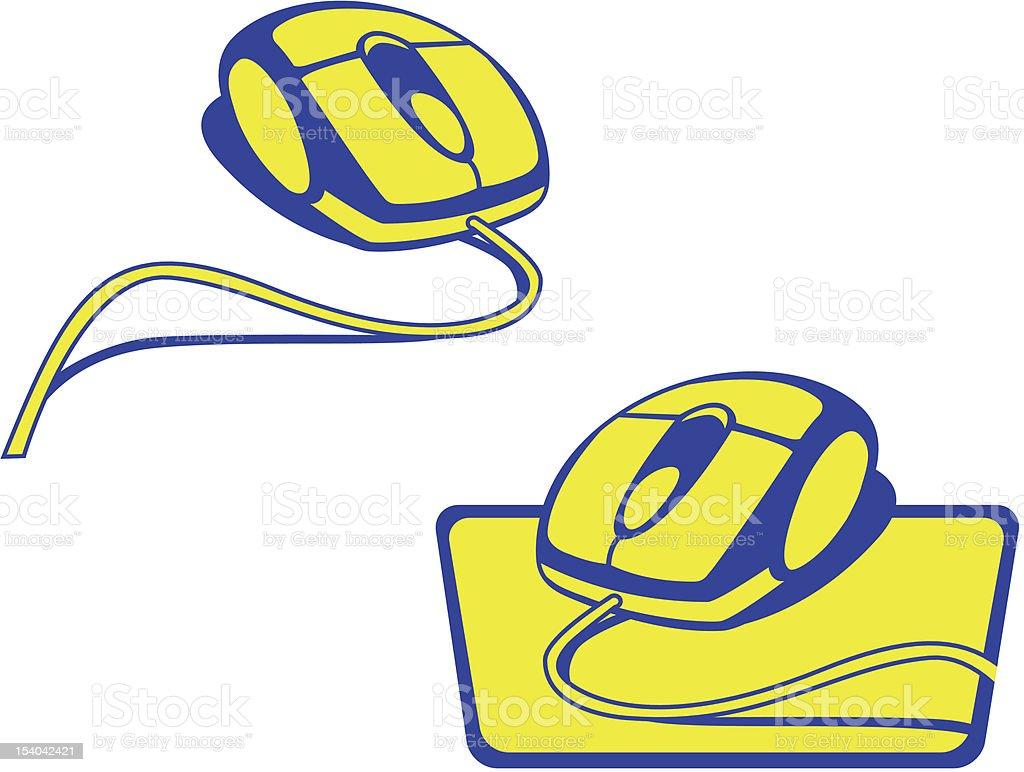 Mouse Logos royalty-free stock vector art