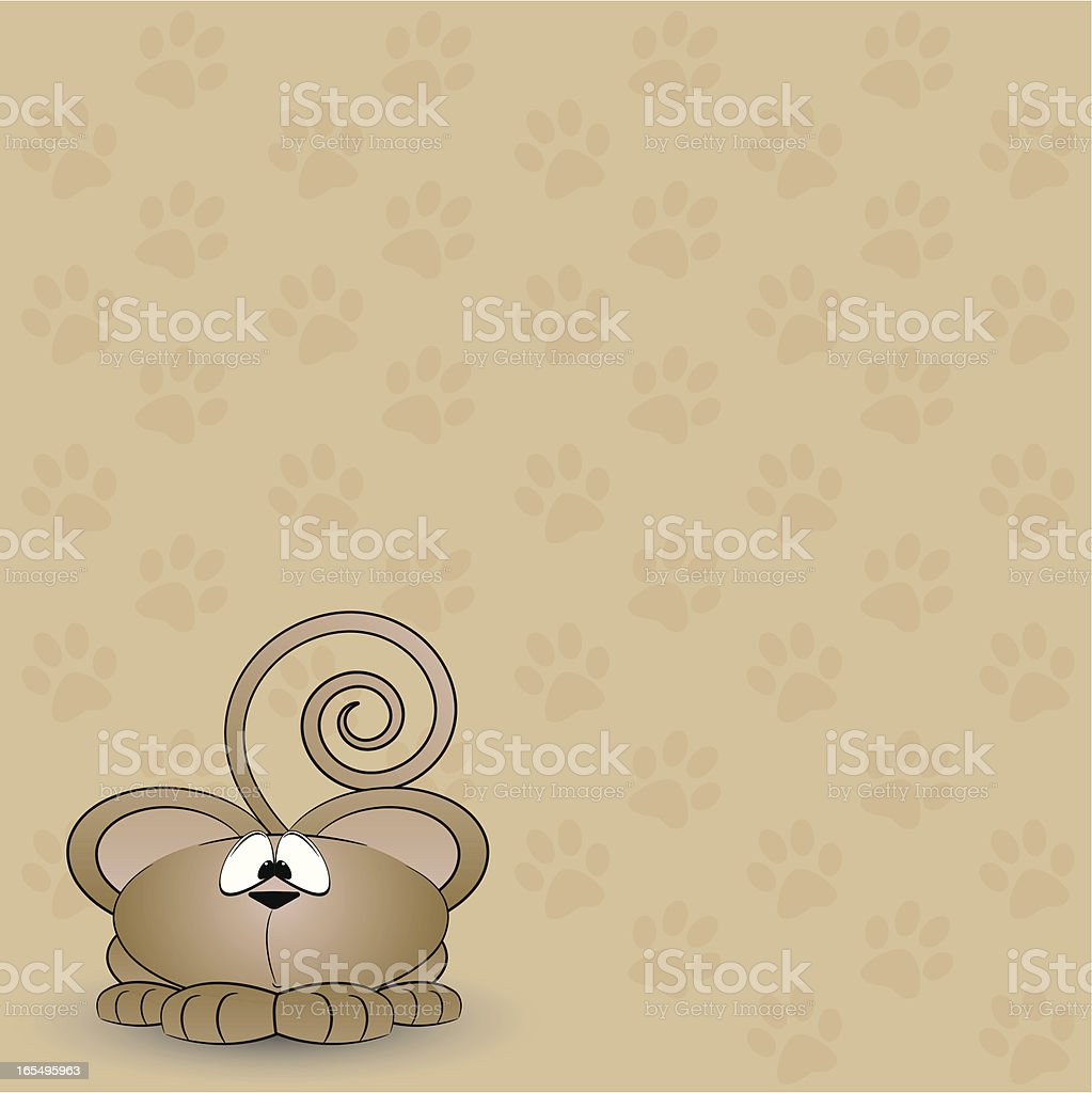 Mouse Pawprint Background royalty-free stock vector art