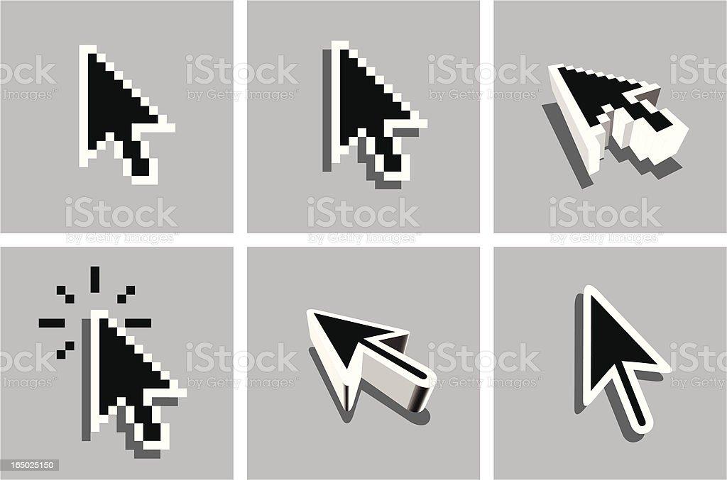 Mouse pointers arrow royalty-free stock vector art