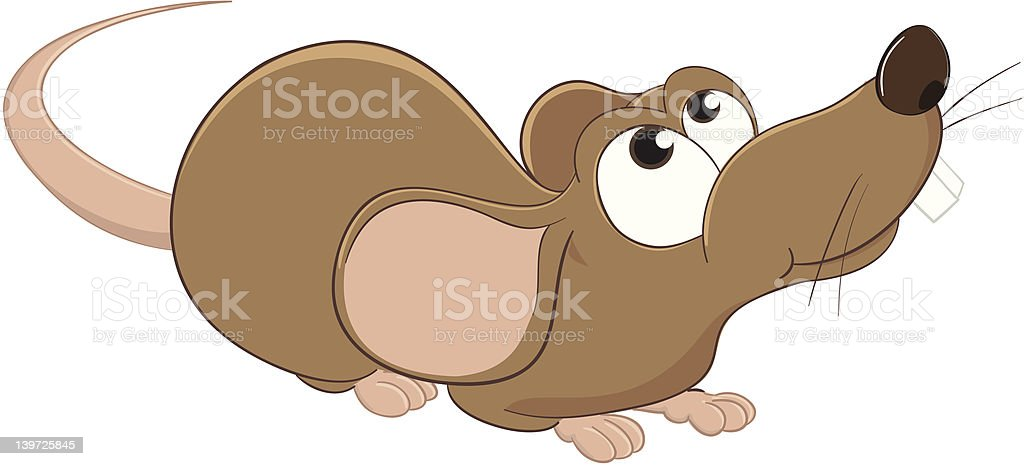 Mouse: What is it up there? royalty-free stock vector art