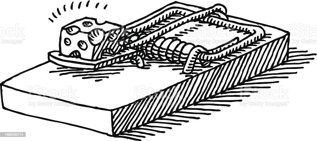 Käse clipart schwarz weiß  Mausefalle Käse Zeichnung Vektor Illustration 188056214 | iStock