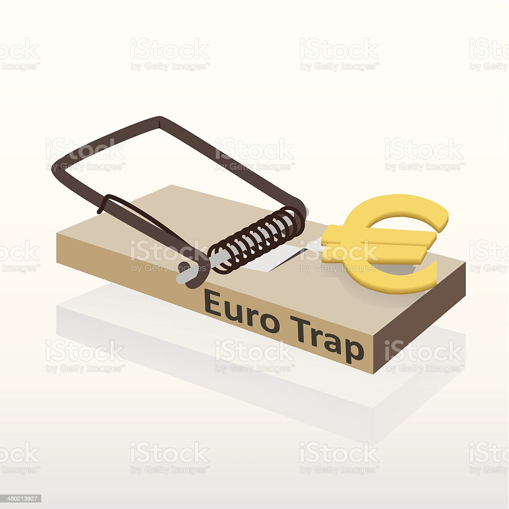 Mousetrap with euro money vector illustration royalty-free stock vector art