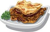 moussaka baked dish