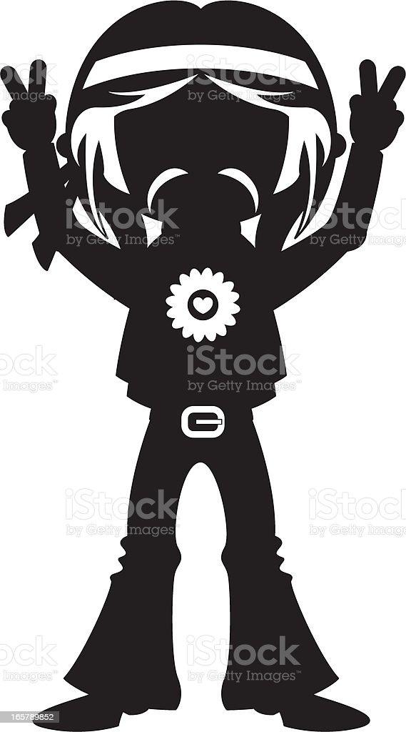 Moustache Hippie In Silhouette stock vector art 165789852 ...
