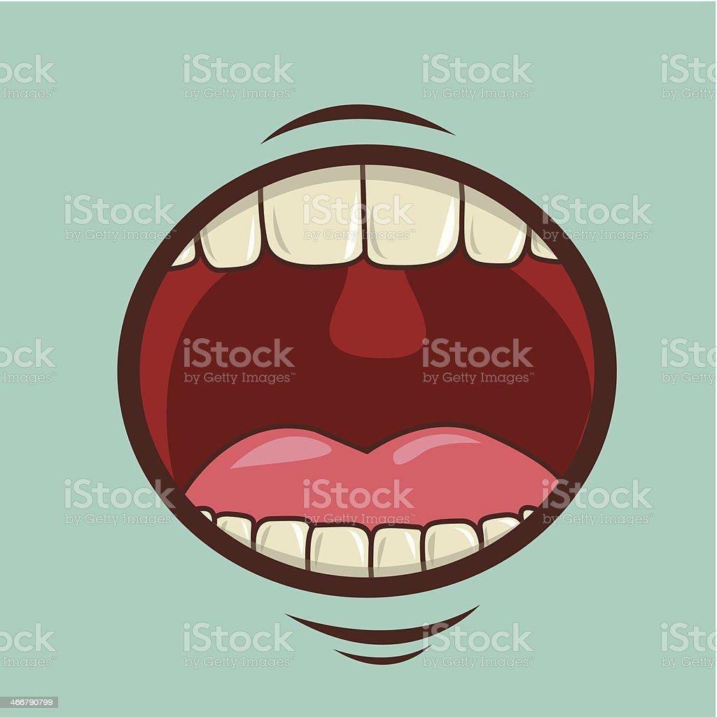 Mouth Design vector art illustration