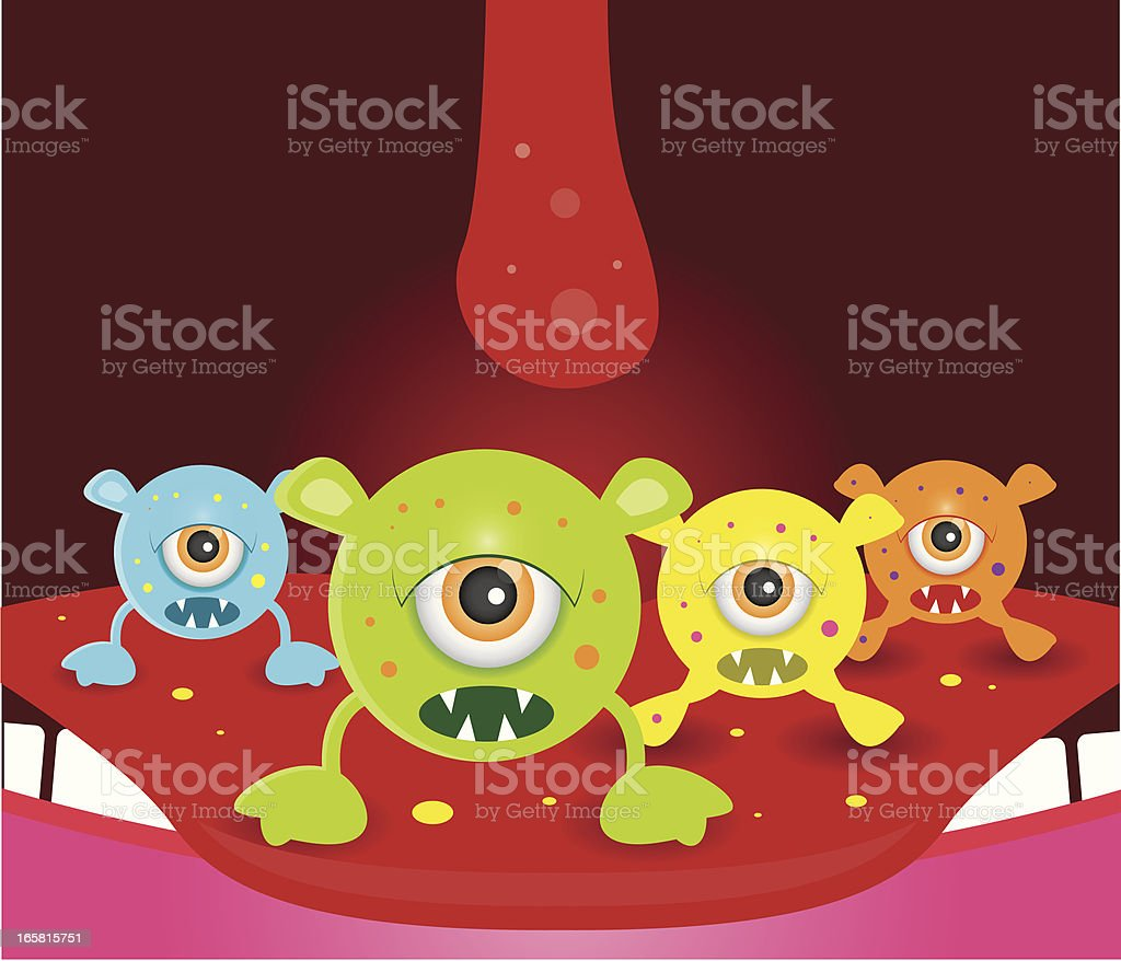 Mouth germs royalty-free stock vector art