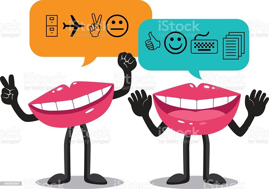 Mouth vector art illustration