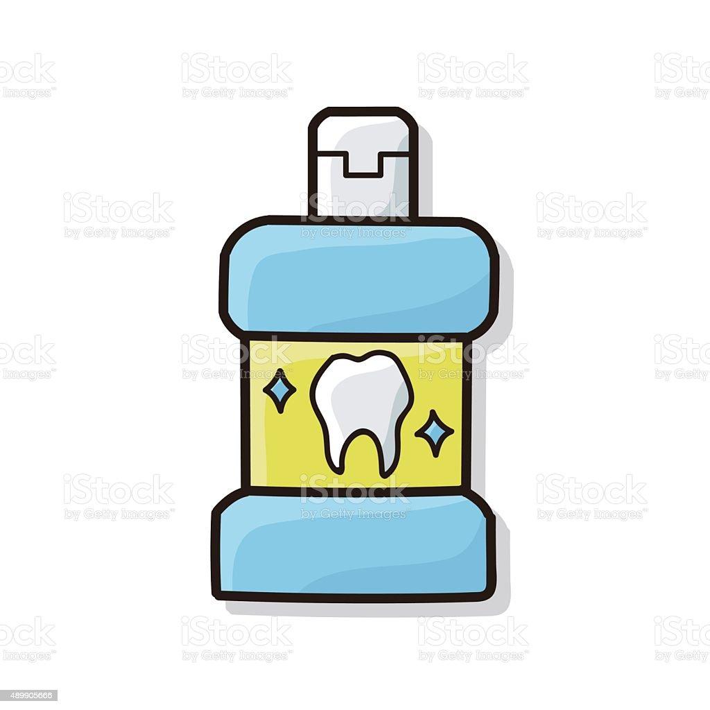 Mouthwash Doodle stock vector art 489905666   iStock