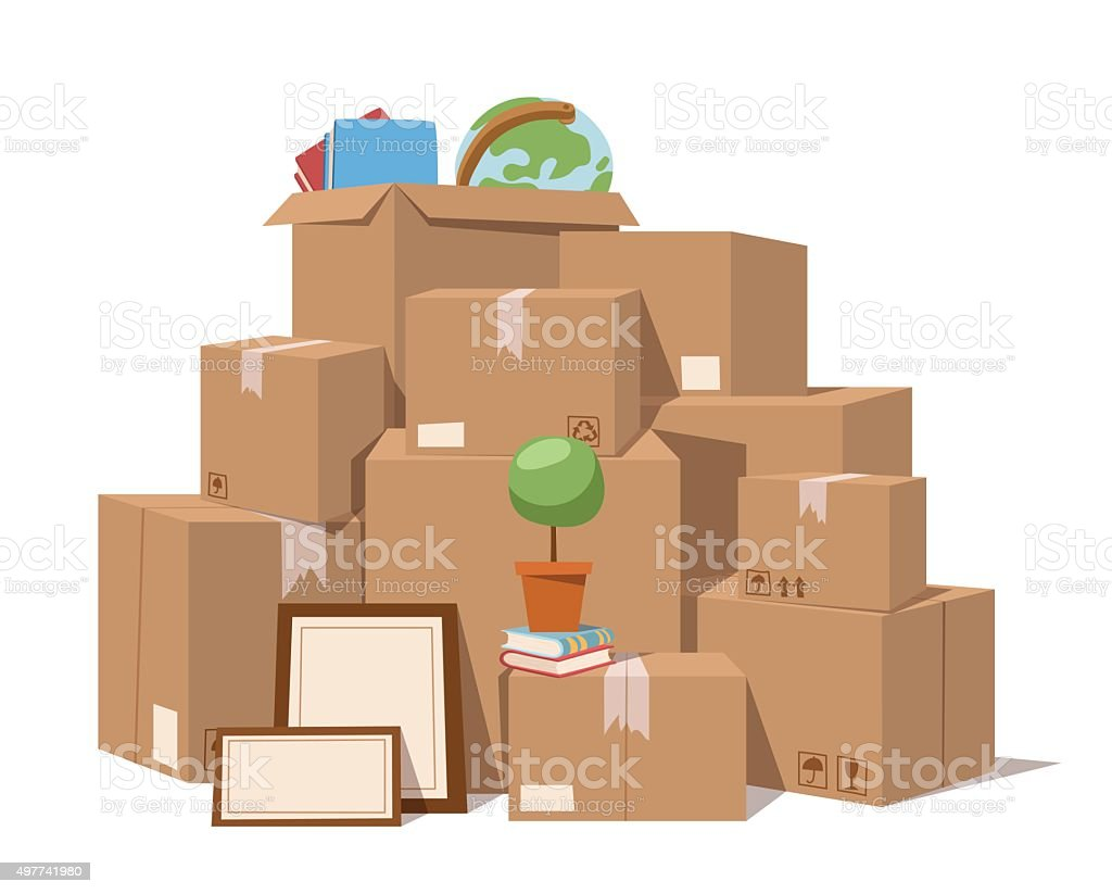 Move service box full vector illustration vector art illustration