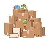 Move service box full vector illustration