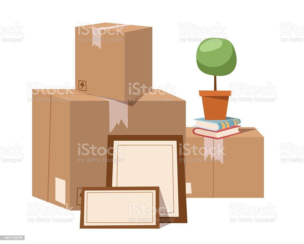 Move service box full vector illustration vector art illustration