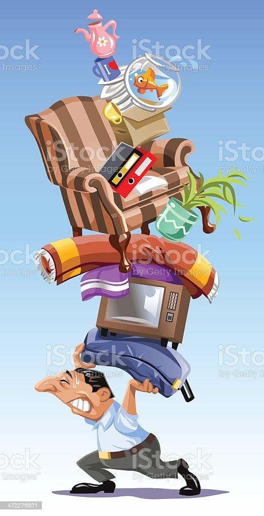 Mover vector art illustration