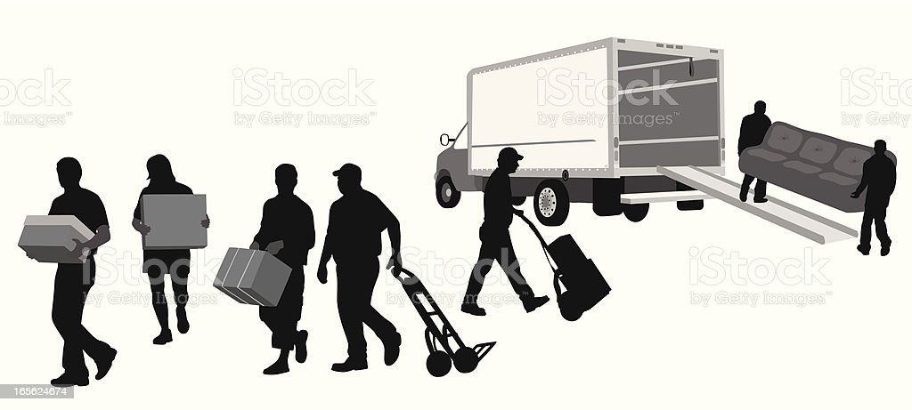 Movers Vector Silhouette royalty-free stock vector art