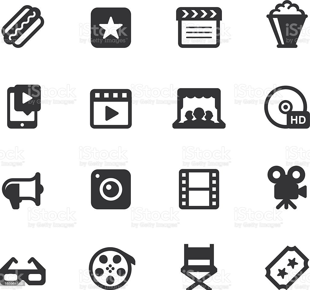 Movie and Video Icons vector art illustration