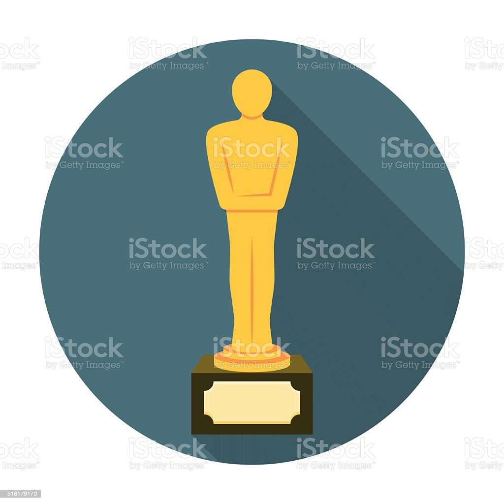 Movie award flat icon vector art illustration