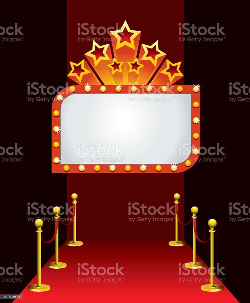Movie Award vector art illustration