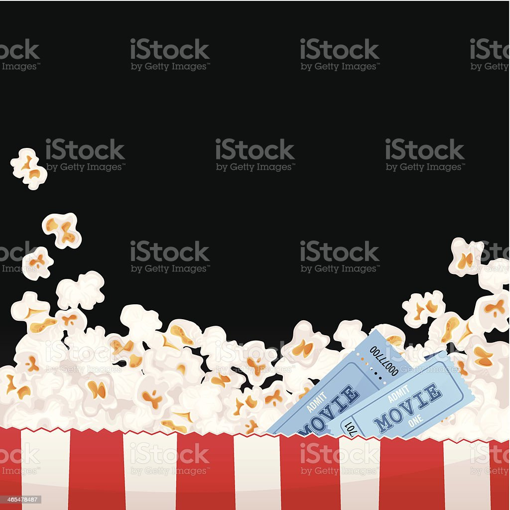 Movie Background vector art illustration
