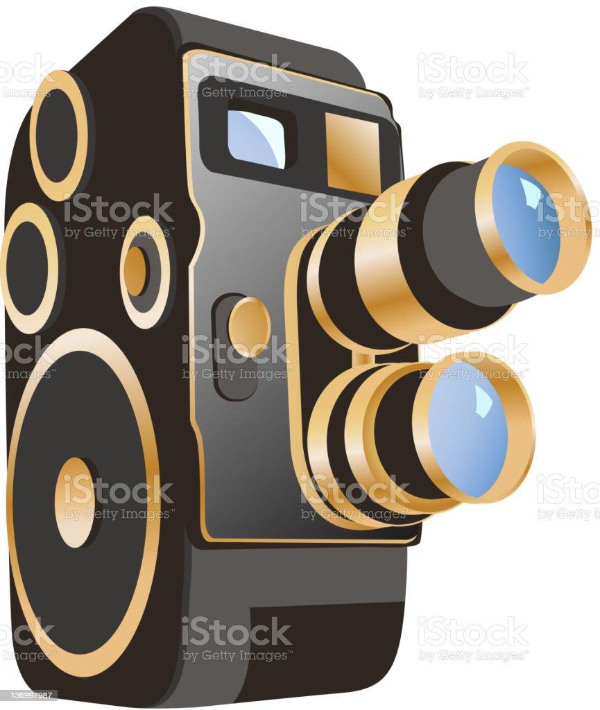 movie camera vector art illustration