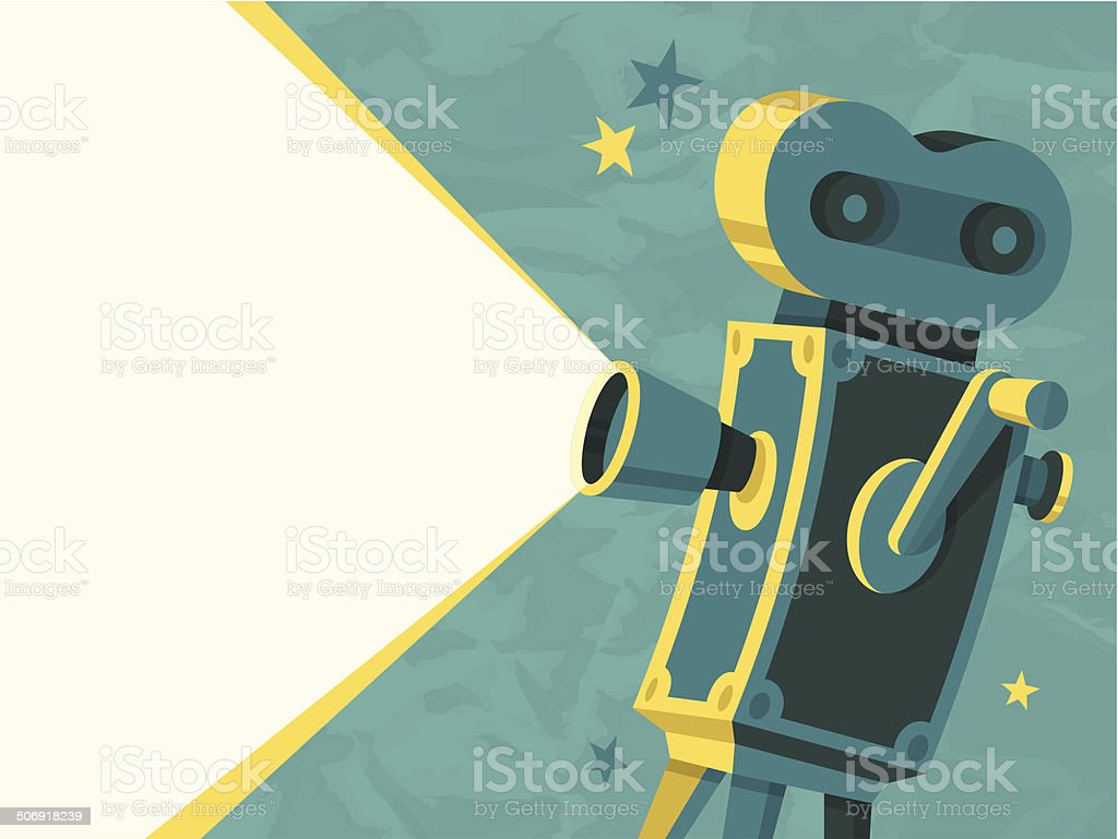 Movie Camera vector art illustration
