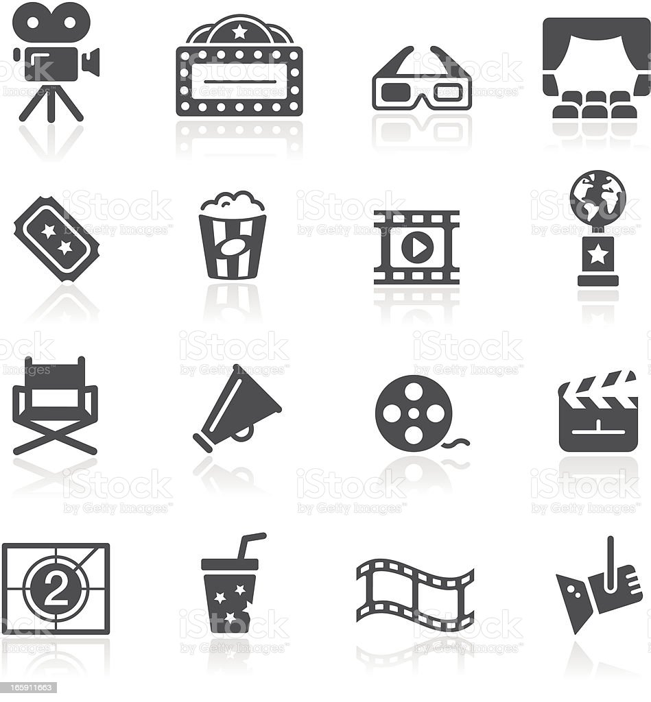 Movie & Cinema Icons vector art illustration
