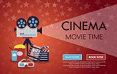 Movie cinema premiere poster design.