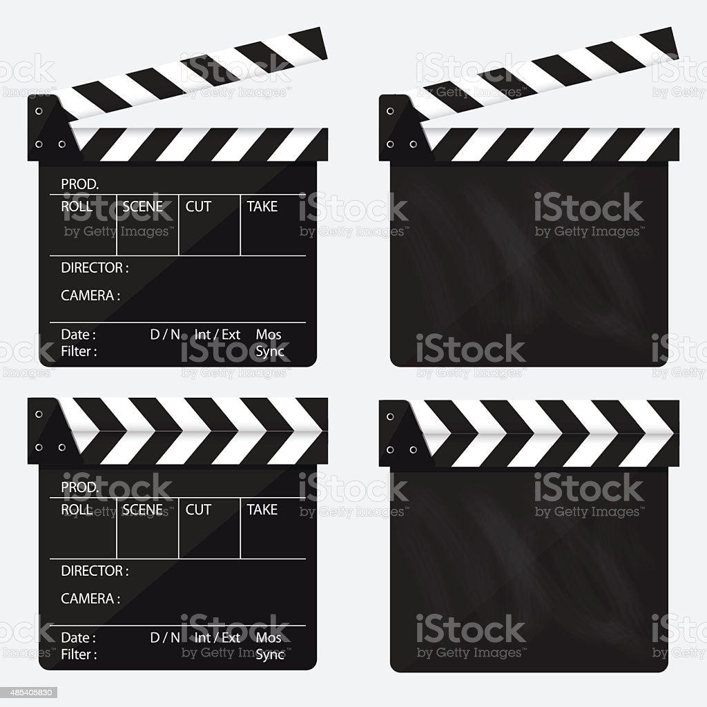 Movie clapperboard. Blank movie clapperboard. Vector. vector art illustration