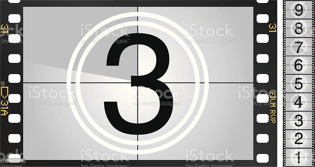 Movie Countdown vector art illustration