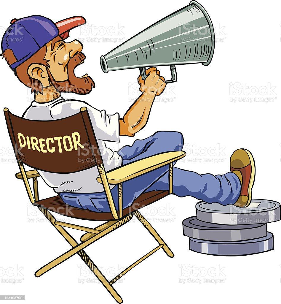 Movie director. vector art illustration