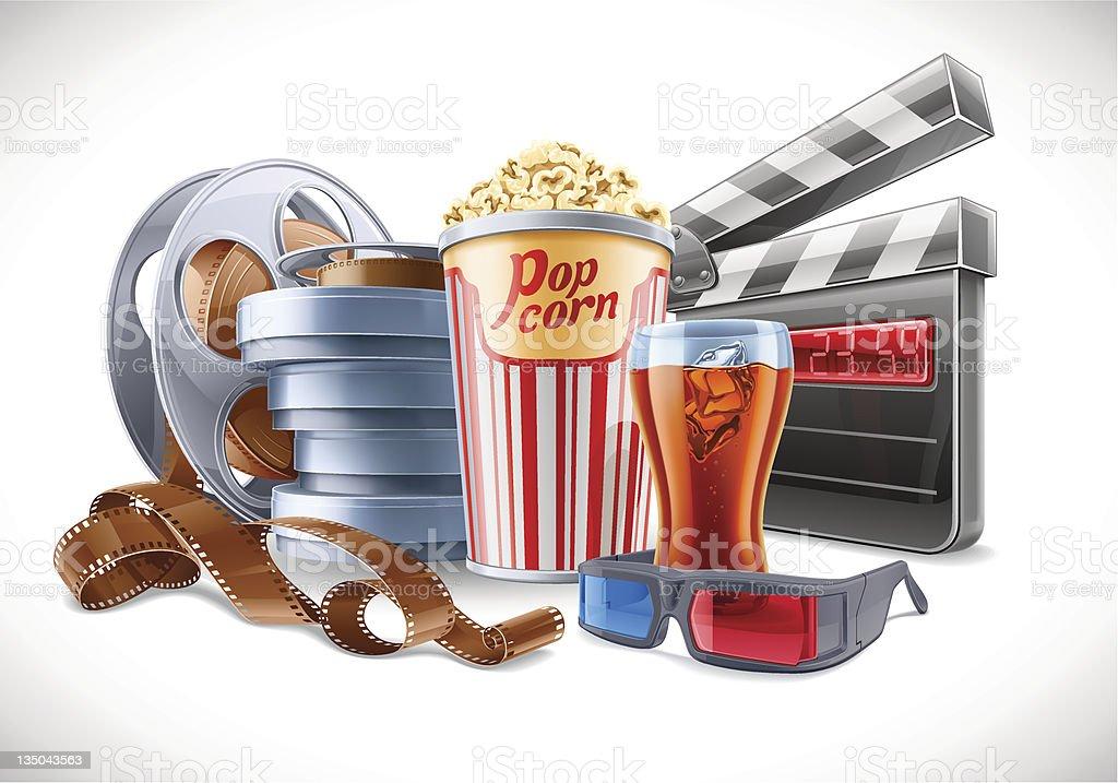 Movie Elements royalty-free stock vector art
