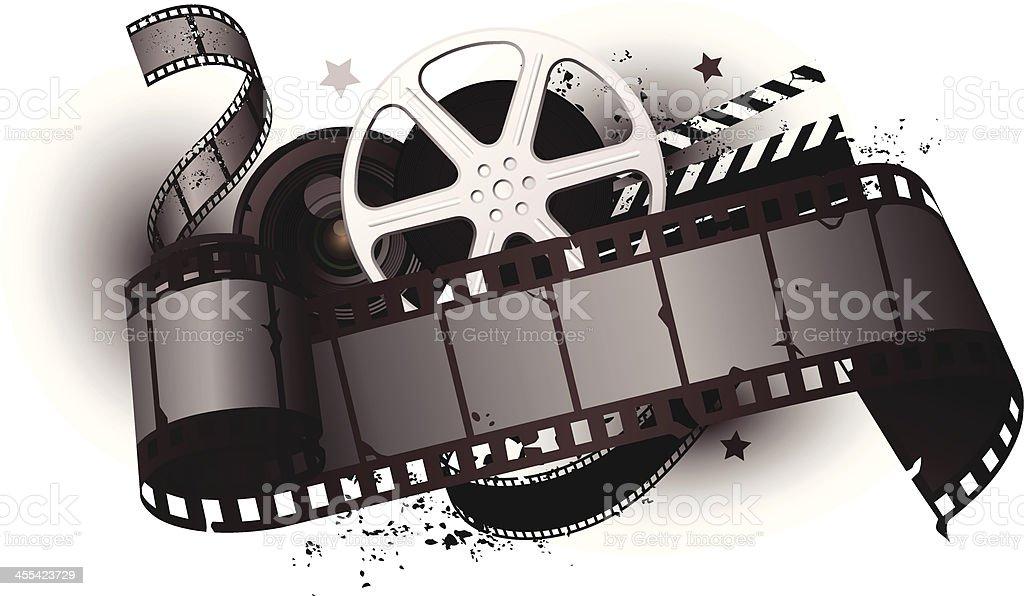 movie equipments vector art illustration