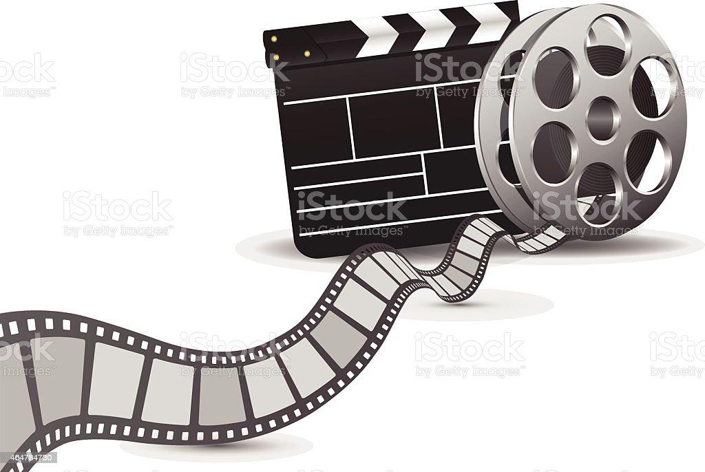 Movie Film Background vector art illustration