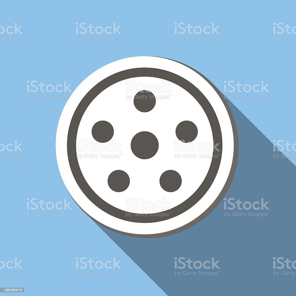 Movie flat icon vector art illustration