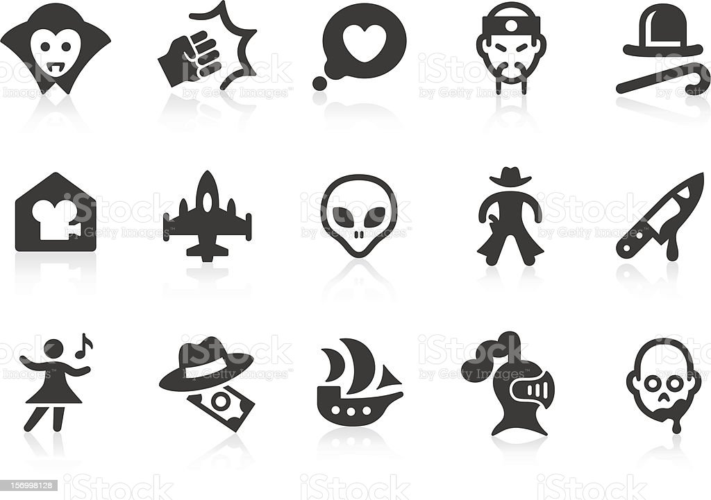 Movie Genre icons royalty-free stock vector art