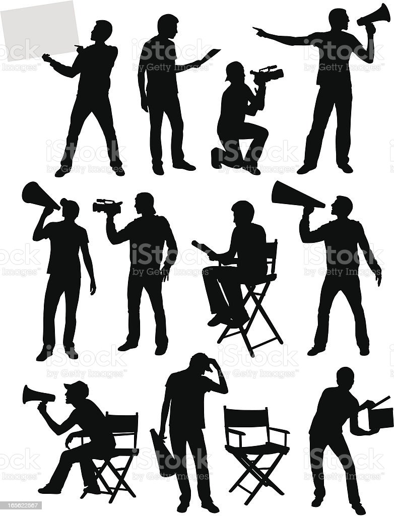 Movie Guys vector art illustration