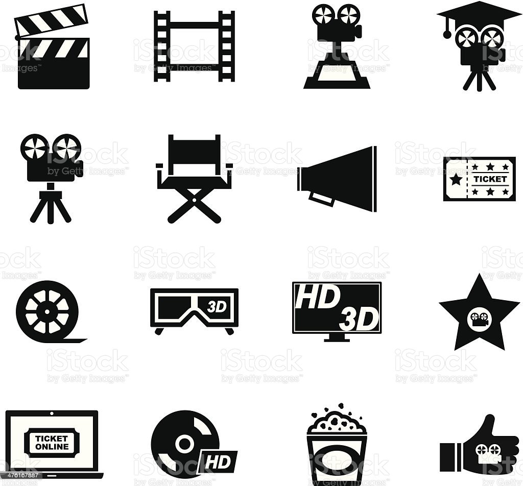 Movie Icon vector art illustration