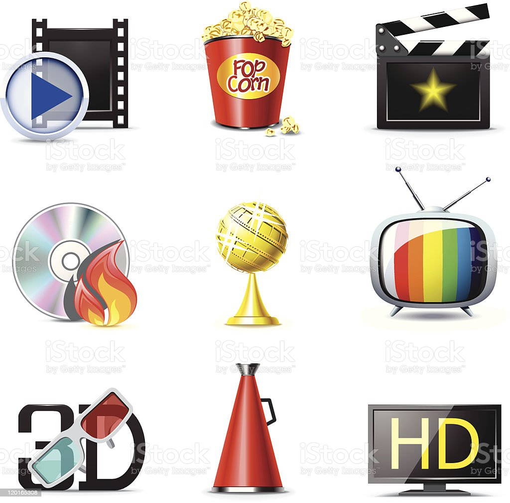 Movie icons | Bella series royalty-free stock vector art