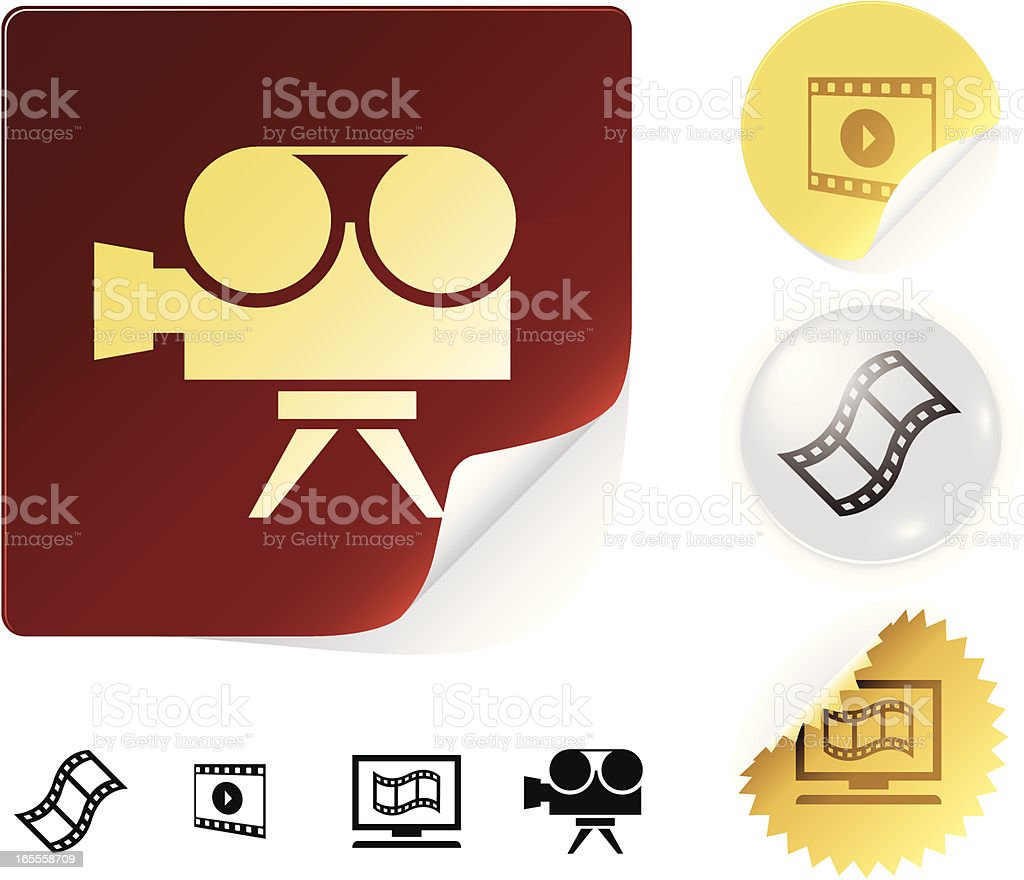 Movie icons royalty-free stock vector art