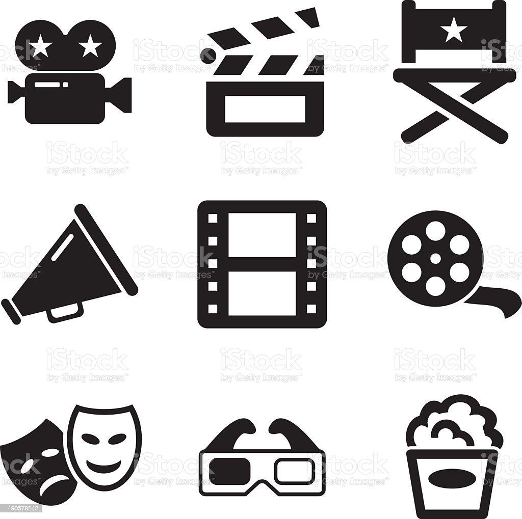Movie Icons vector art illustration