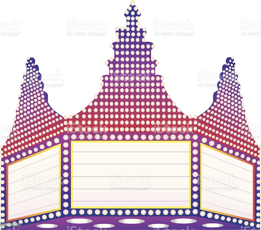 Movie Marquee royalty-free stock vector art