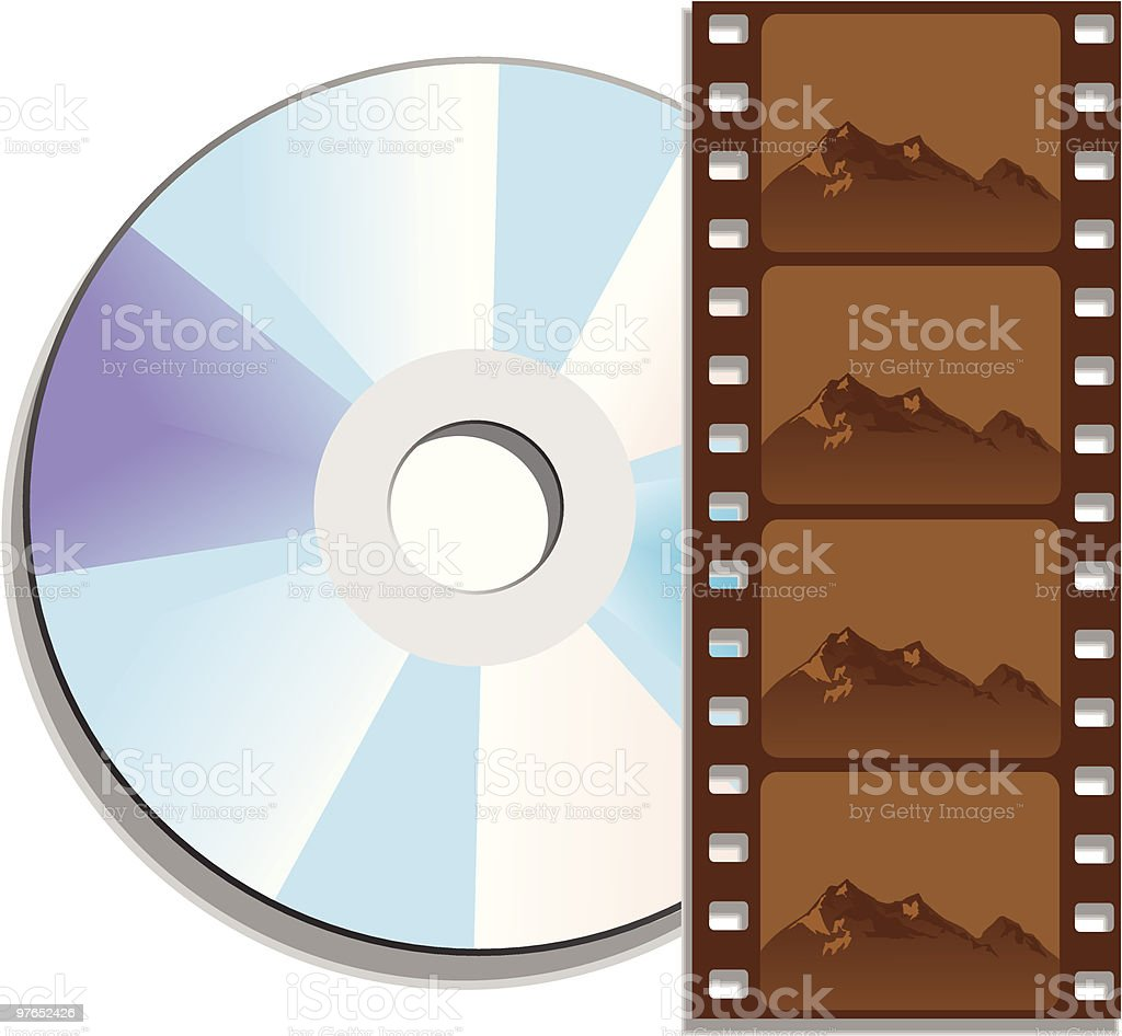 Movie on Digital Video Disk royalty-free stock vector art