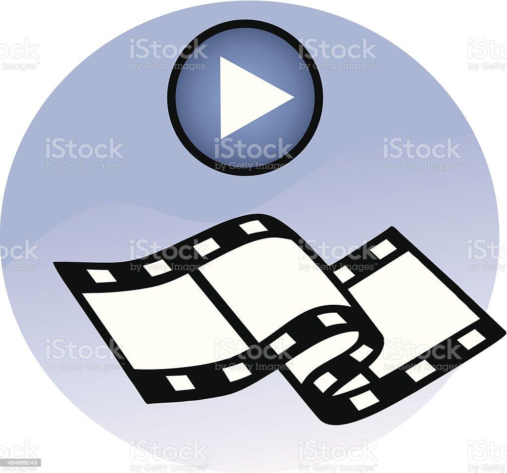 Movie Player ?con vector art illustration