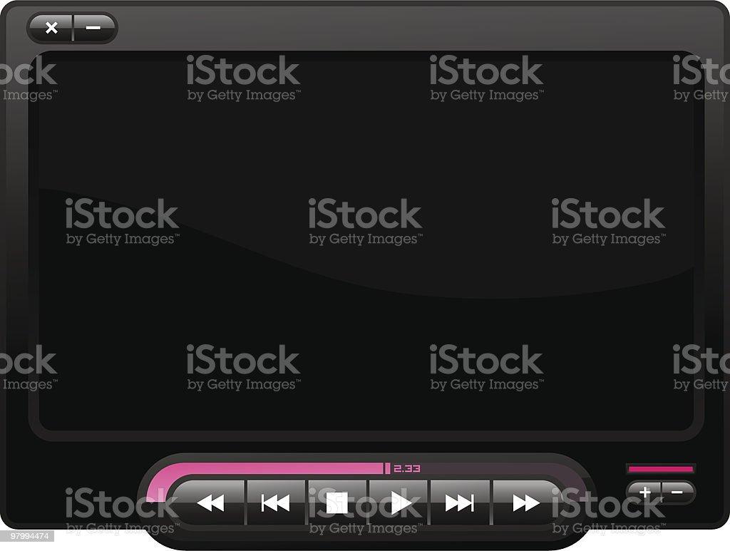 Movie Player Piano Black royalty-free stock vector art