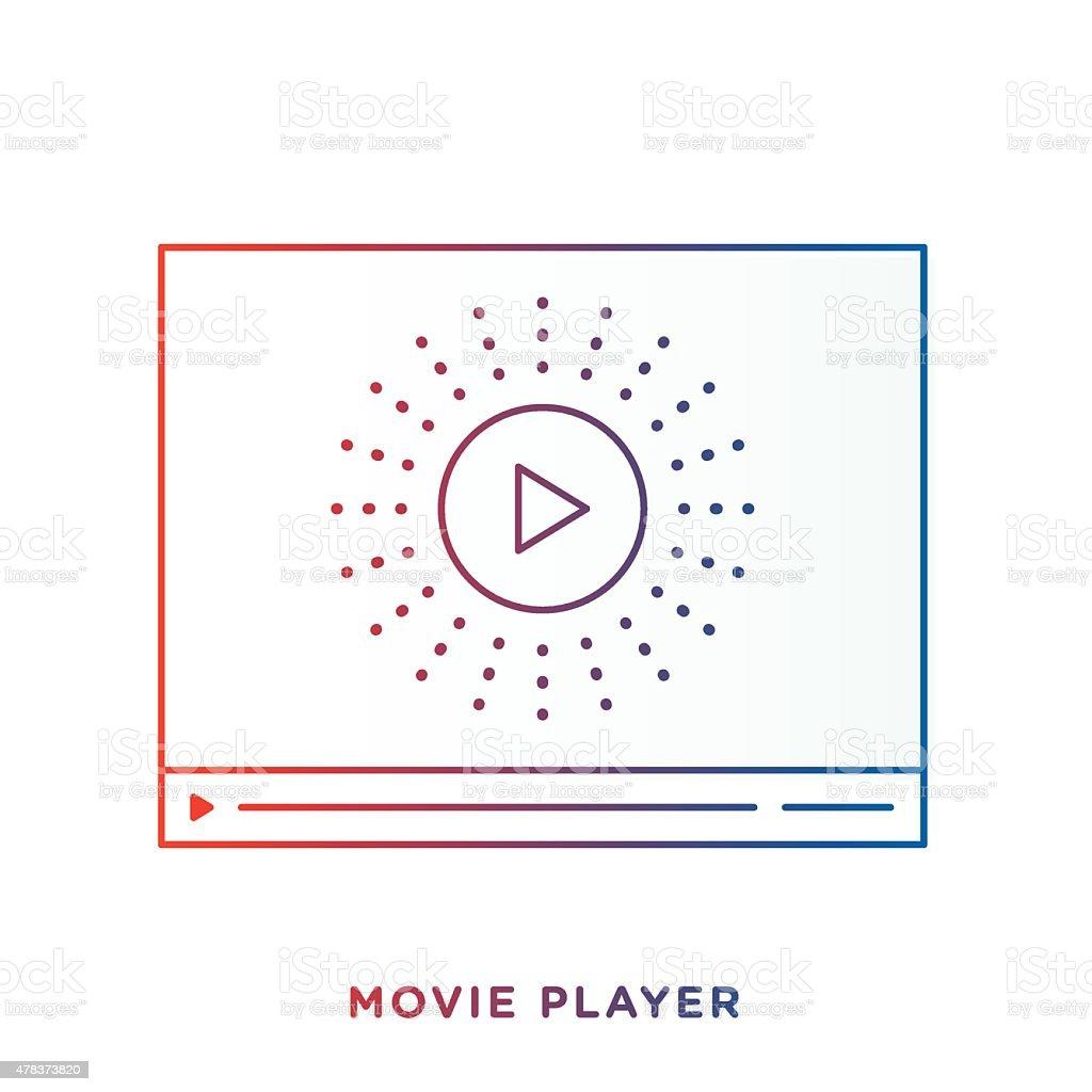 Movie Player Symbol vector art illustration