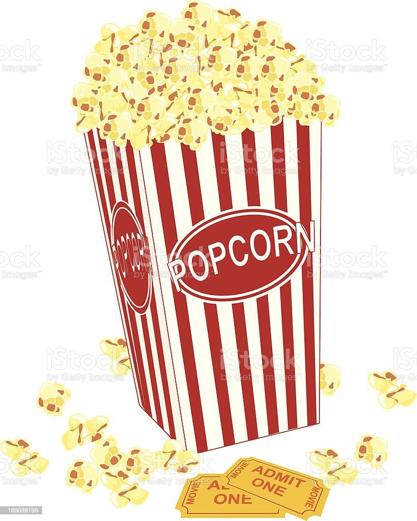 Movie Popcorn royalty-free stock vector art